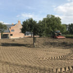 Prepared soil for grass seed and wildflower mixture 3 - Norfolk