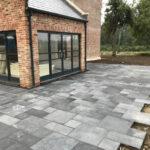 Laying Charcoal Limestone patio 5 - Norfolk