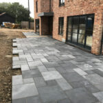 Laying Charcoal Limestone patio 6 - Norfolk