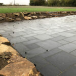 Charcoal limestone patio area 2 - Forncett, Norfolk