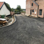 Laying the foundation for the driveway - Forncett, Norfolk