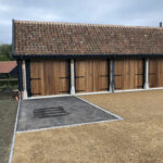 Tarmac and tar and shingle surface area - Forncett, Norfolk