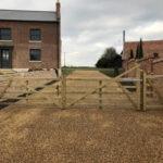 Five bar entrance gate - Forncett, Norfolk