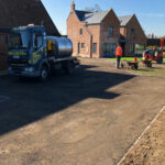 Preparing the driveway 3 - Forncett, Norfolk