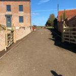 Preparing the driveway 2 - Forncett, Norfolk
