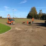 Preparing the driveway - Forncett, Norfolk