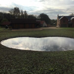 Completed pond - Forncett, Norfolk