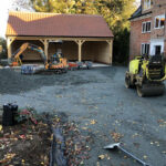 Laying the foundation for the resin driveway - Norfolk