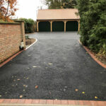 Tarmac base ready for resin aggregate - Norfolk