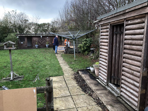 Garden area before - Old Buckenham, Norfolk