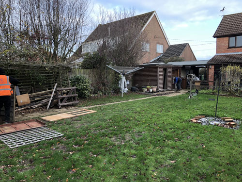Garden area before 5 - Old Buckenham, Norfolk
