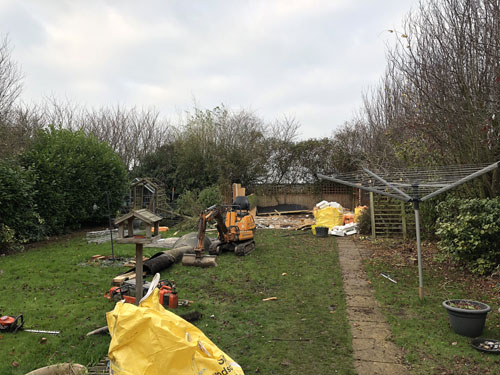 Clearing out the garden - Old Buckenham, Norfolk