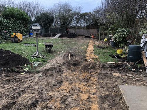 Clearing out the garden 2 - Old Buckenham, Norfolk