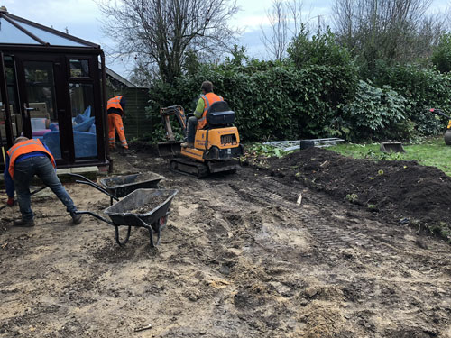 Clearing out the garden 3 - Old Buckenham, Norfolk