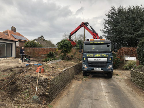 Removing the leylandii hedge - Aylsham