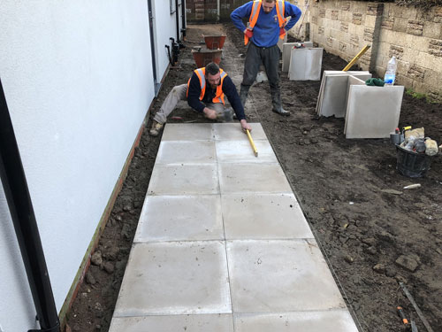 Laying 600 x 600 Grey domestic slabs - Aylsham