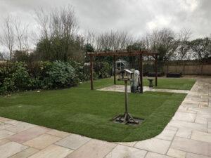 Finished garden landscape - Old Buckenham, Norfolk
