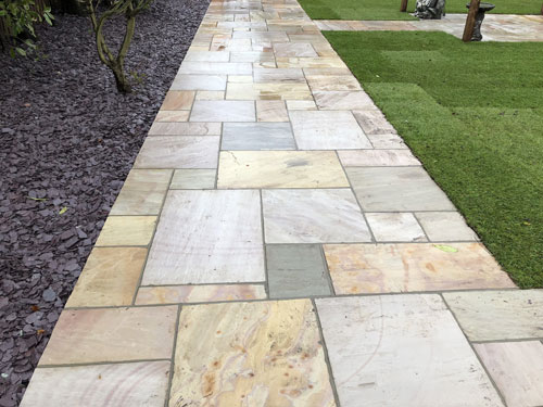 Raveena patio walkway - Old Buckenham, Norfolk