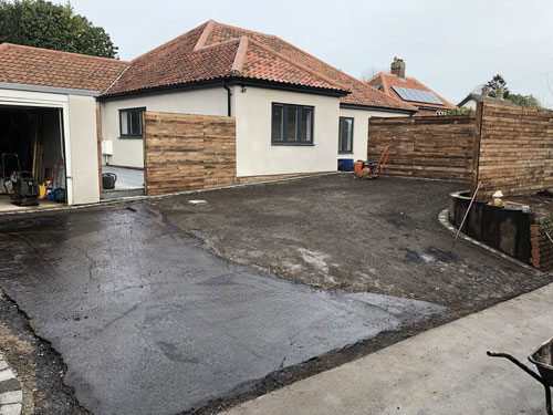 Preparing to start the driveway - Aylsham