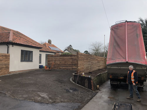 Preparing to start the driveway 2 - Aylsham