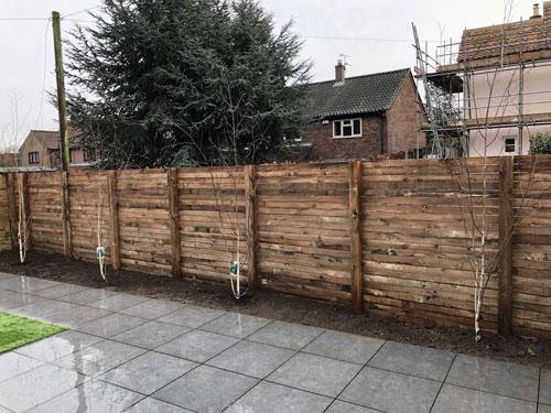 Weatherboard Horizontal wooden fence - Aylsham