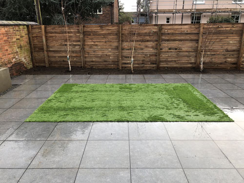 Artificial grass area - Aylsham