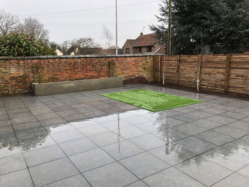 Completed main patio area - Aylsham