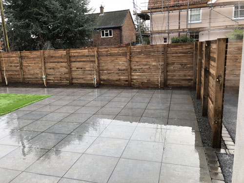Completed main patio area 2 - Aylsham