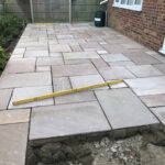 Laying Modak patio area - Swainsthorpe, Norwich
