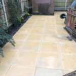 Buff 600x600 patio slabs - Swainsthorpe, Norwich