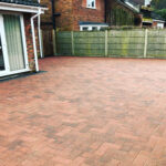 Burnt Amber brickweave driveway with Charcoal edging 2 - Swainsthorpe, Norwich