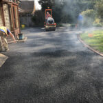 Laying the new tarmac surface - Norwich