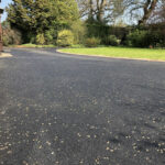 Finished tarmac drive with Silver stone rolled in - Norwich