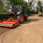 Rotavating the soil ready for seeding 2 - Norwich