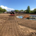Rotavating the soil ready for seeding 3 - Norwich