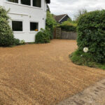 Hot tar and shingle driveway - Wroxham, Norfolk