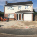 Preparing the area of the resin driveway - Norwich