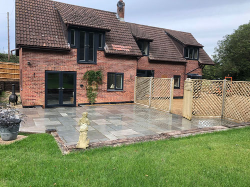 Diamond trellance fence panels and gate - Weybread, Norfolk
