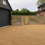 Diamond trellance fence panels and gate 2 - Weybread, Norfolk