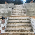 Created steps up terrace