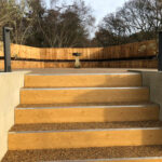 Terrace resin bound stairs