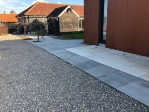 Natural Grey Pebble Stone driveway 2 - Norwich, Norfolk