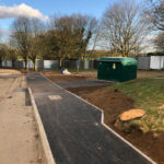 First pathway completed with drop kerbs