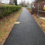 Finished tarmac pathways