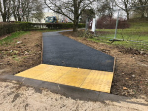 Finished tarmac pathways and tac tiles 2