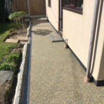 Finished resin pathway around back of the property - Costessey