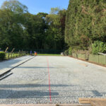 Laying edgings for tennis court - Norwich, Norfolk