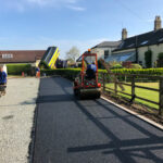Rolling and compacting tarmac base - Norwich, Norfolk