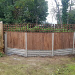 Closeboard fencing on concrete gravel boards and posts - Norwich