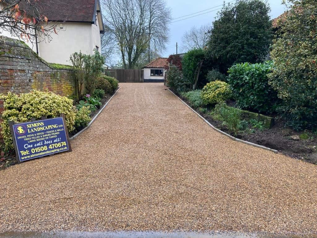 Tar and shingle driveway - Norfolk